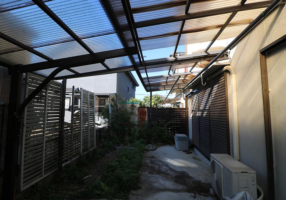 三木市 A様邸【カーポート・テラス屋根の修繕】 のビフォー画像3