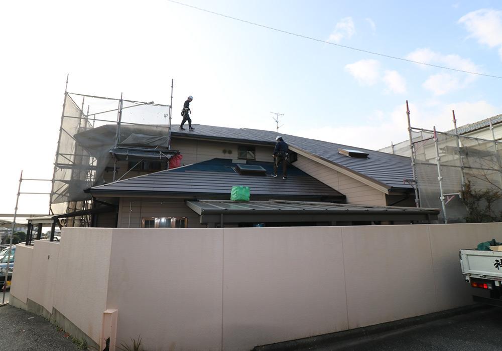 神戸市垂水区 I様邸【屋根・外壁の修繕】 の工事中画像3