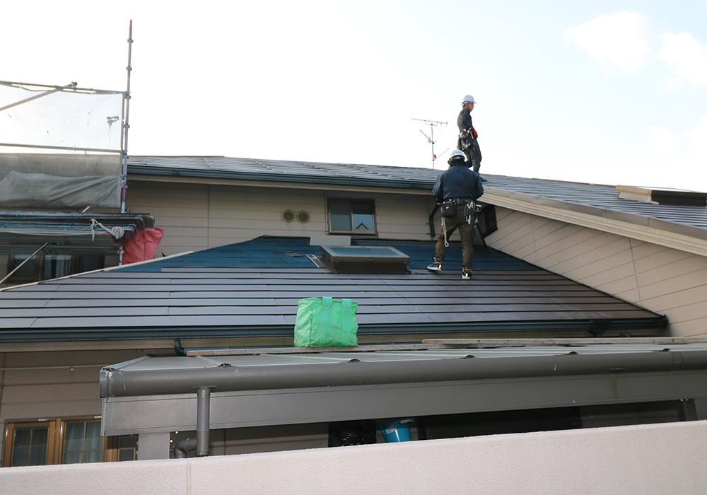 神戸市垂水区 I様邸【屋根・外壁の修繕】 の工事中画像4