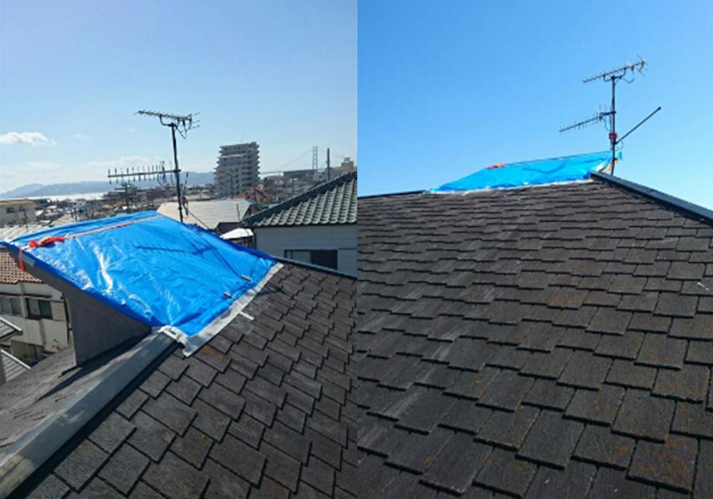神戸市垂水区 I様邸【屋根・外壁の修繕】 のビフォー画像3