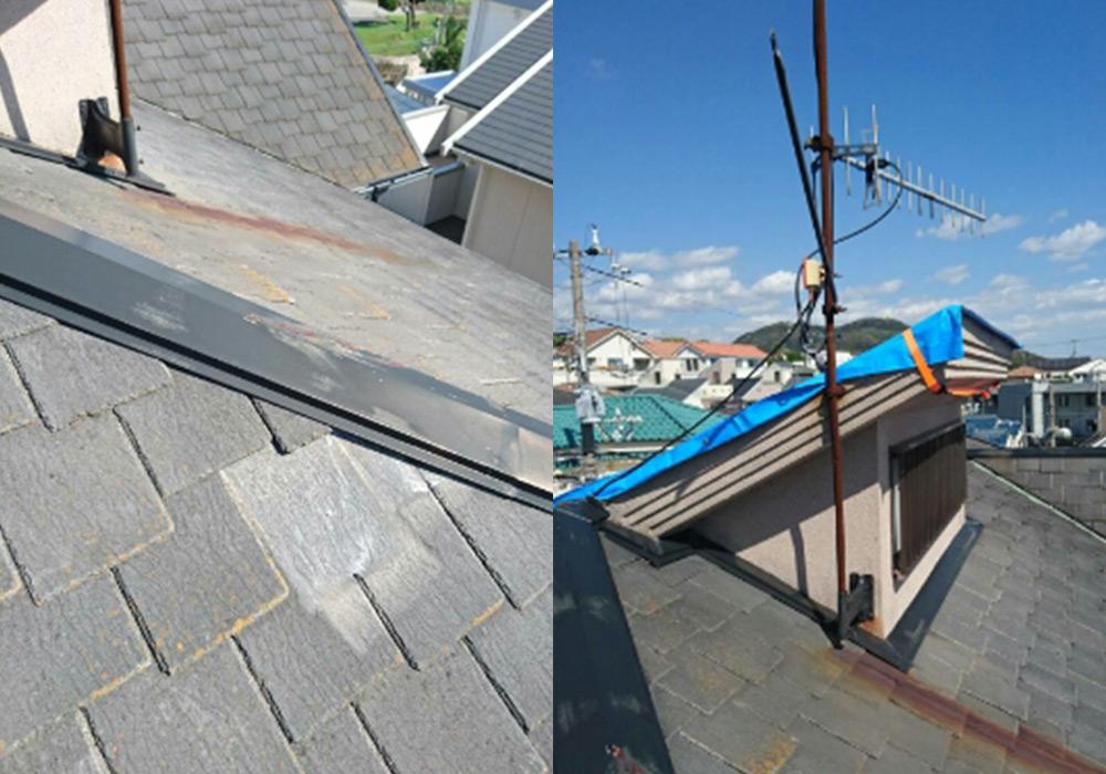 神戸市垂水区 I様邸【屋根・外壁の修繕】 のビフォー画像4