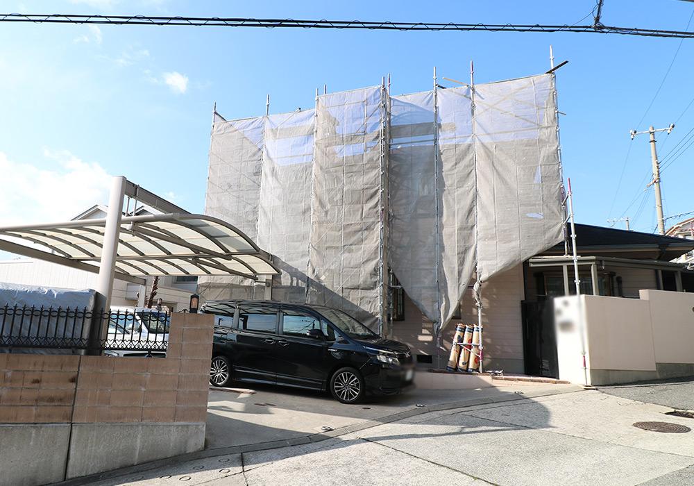 神戸市垂水区 I様邸【屋根・外壁の修繕】 の工事中画像1