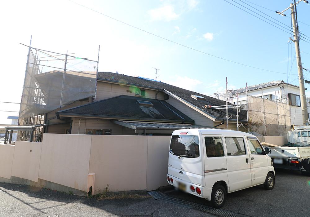 神戸市垂水区 I様邸【屋根・外壁の修繕】 の工事中画像2