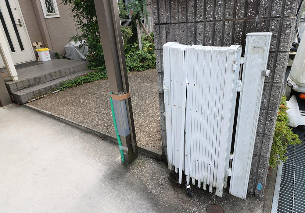 神戸市西区 T様邸【雨樋・伸縮門扉】